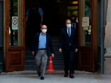 Quim Torra a su salida este miércoles al Tribunal Superior de Justicia de Cataluña