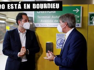 Ignacio Aguado, en una estación del metro de Madrid durante la presentación las nuevas medidas de prevención del Covid 19