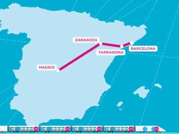 Así puedes conseguir un billete de tren por 1 euro entre Madrid y Barcelona