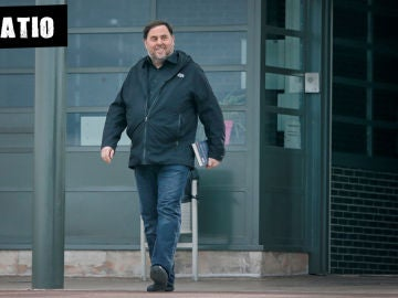 Oriol Junqueras, en una salida de la cárcel de Lledoners