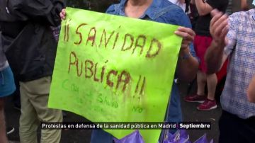 España, escenario de décadas de protestas en defensa de una sanidad pública desbordada por la Covid-19