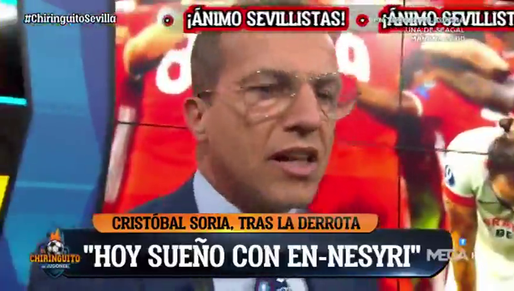 """Cristóbal Soria no da crédito a los fallos de En-Nesyri: """"Voy a soñar con él"""""""