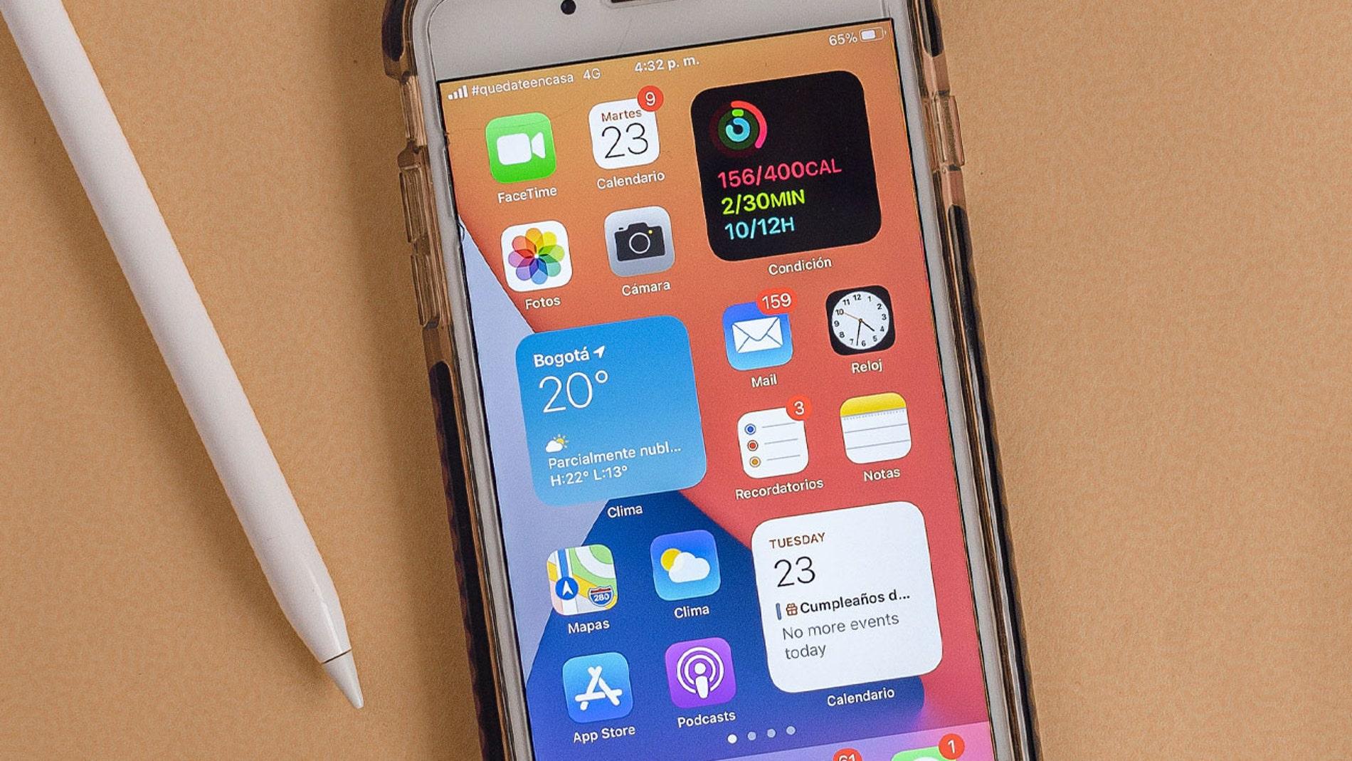 Nuevos widgets de iOS 14 para iPhone.