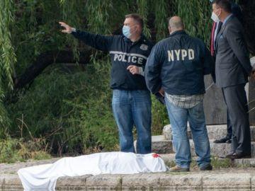 La policía neoyorquina en el Central Park