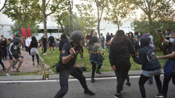 Protestas en Madrid por las restricciones aplicadas por zonas básicas de salud
