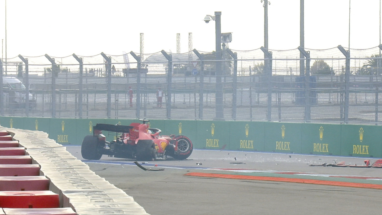 Sebastian Vettel se carga el Ferrari