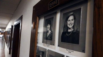 La jueza Amy Coney Barrett, en el Hall of Fame del Rhodes College de Memphis