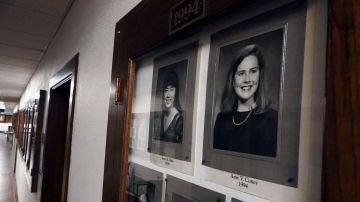 La jueza Amy Coney Barrett, en el Hall of Fame del Rhodes College de Memphis