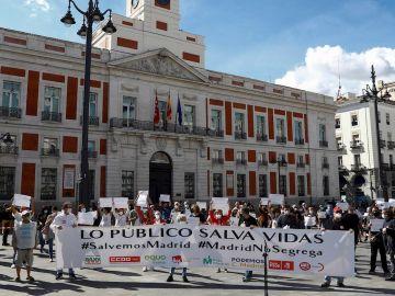 Movilización en la Puerta del Sol de Madrid