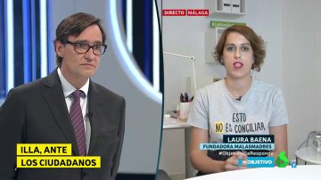 Laura Baena (Malasmadres) pide más medidas para la conciliación a Salvador Illa.