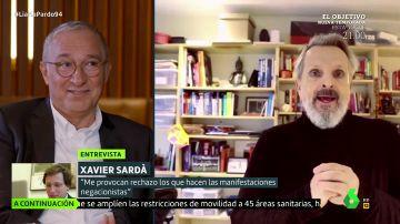 Xavier Sardà habla sobre la postura negacionista de la pandemia de Miguel Bosé.