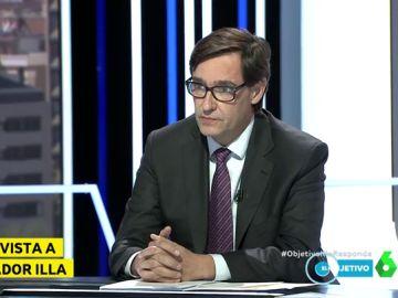 Salvador Illa, ministro de Sanidad, en El Objetivo.