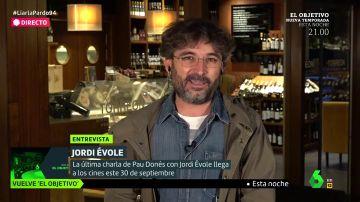 El periodista Jordi Évole habla en Liarla Pardo sobre su documental 'Eso que tú me das'.