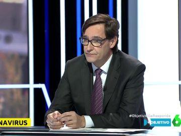 El ministro de Sanidad, Salvador Illa, analiza la actualidad de la pandemia en El Objetivo.