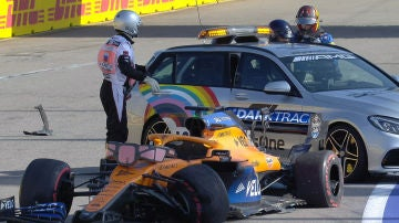 Carlos Sainz, accidente en Rusia