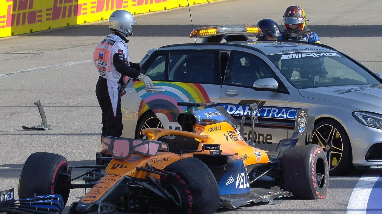Carlos Sainz, accidente en Rusia