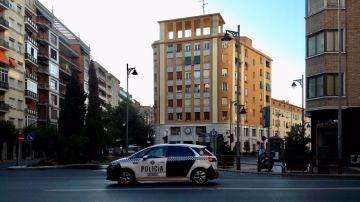 Imagen de un vehículo de la Policía Local de Logroño