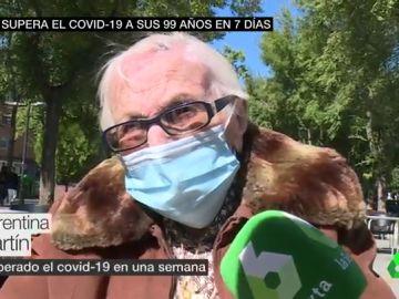 Nina, la anciana de 99 años que ha conseguido superar al COVID-19 en una semana: ya sobrevivió a la colza