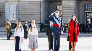 La Familia Real en el acto por el 12 de octubre