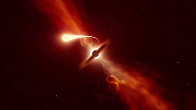Registrada la mas cercana espaguetificacion de una estrella devorada por un agujero negro