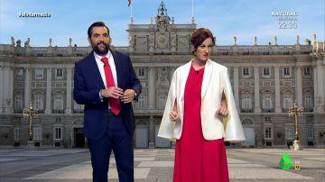 Cristina Gallego y Dani Mateo escenifican cómo fue la preparación del encuentro entre Isabel Díaz Ayuso y Pedro Sánchez.