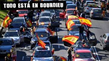 Protesta de conductores convocada por Vox
