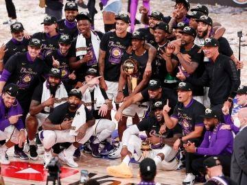 Celebración de los Lakers