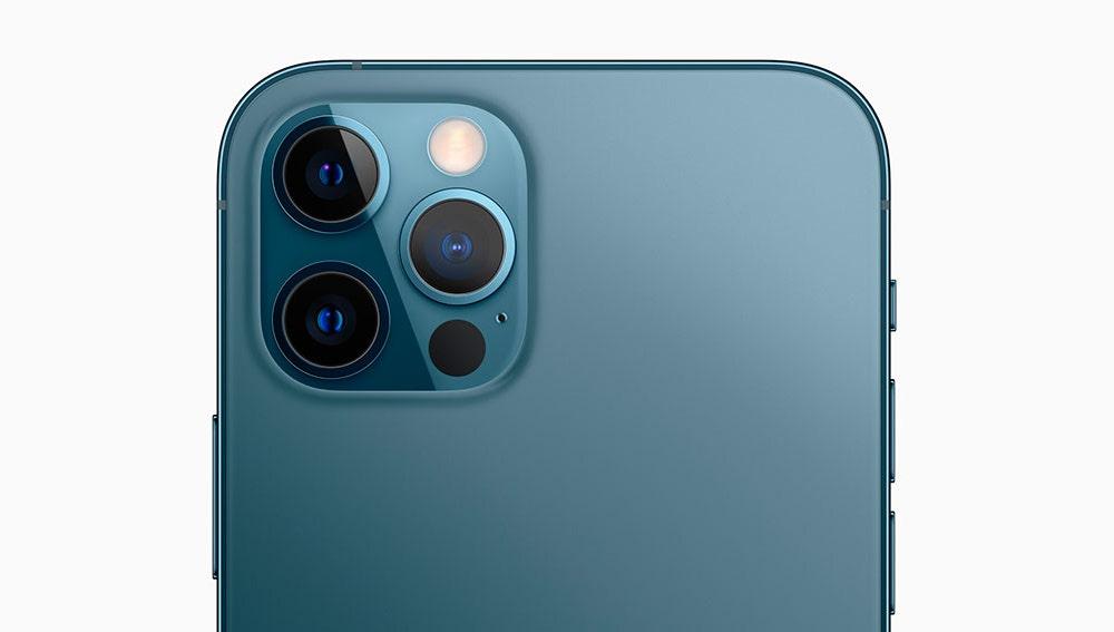 Cámara del iPhone 12 Pro Max con escáner LiDAR