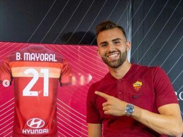 Borja Mayoral, con la Roma