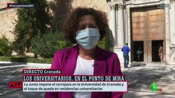 """La rectora de la Universidad de Granada considera """"un error"""" la decisión de la Junta: """"La Universidad no tiene ningún brote"""""""