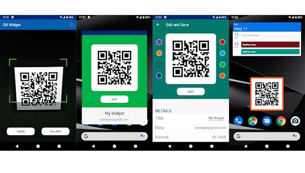 Escanea y convierte en Widget tus códigos QR