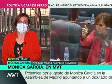 """Mónica García (Más Madrid) responde a la polémica: """"No deberíamos estar hablando de mi gesto sino de dónde están los rastreadores"""""""