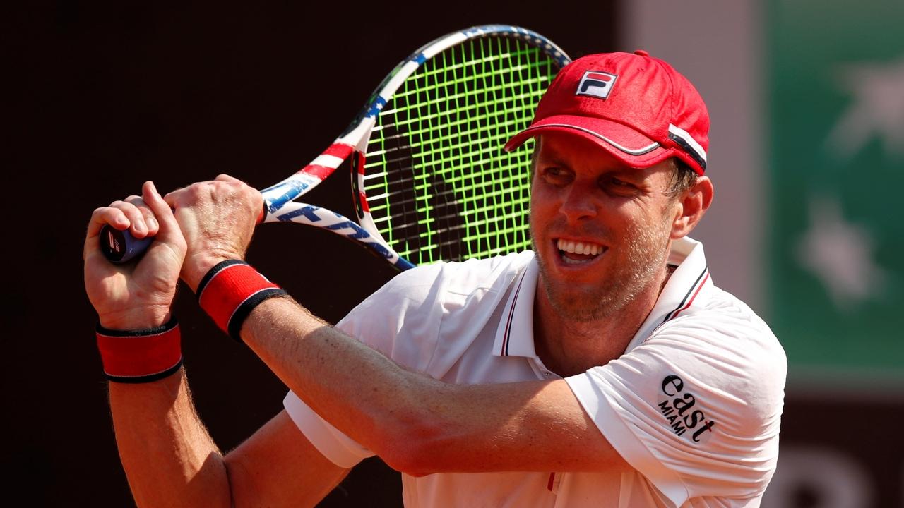 Sam Querrey, en un partido de tenis