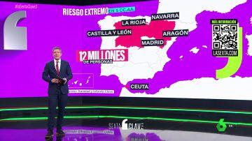 Máxima alerta en cinco CCAA y Ceuta si Sanidad aplicase hoy su plan contra el coronavirus