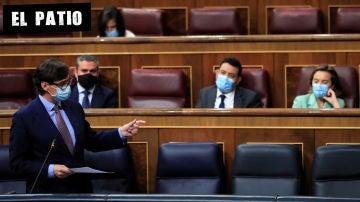 El ministro de Sanidad, Salvador Illa, interviene en el pleno del Congreso
