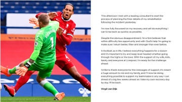 Carta abierta de Virgil van Dijk