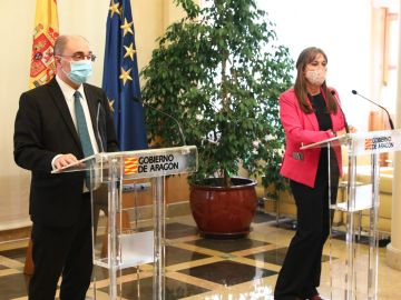 Javier Lambán y Sira Repollés