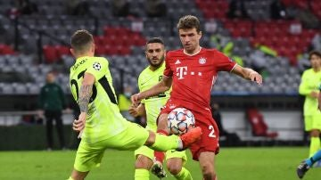 Müller, en el partido del Bayern-Atlético de Madrid