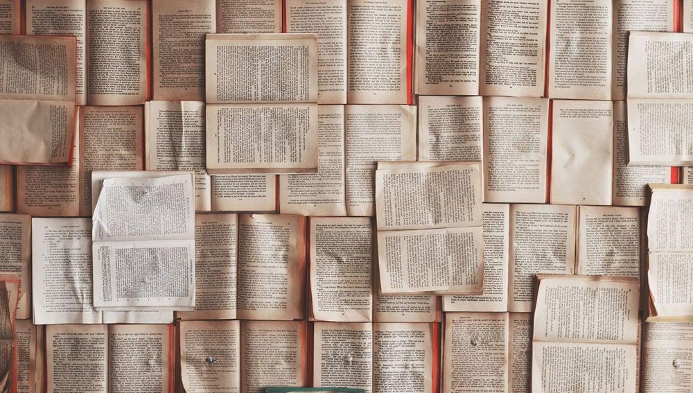Miles de palabras en libros