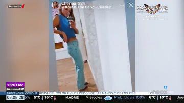 La felicidad de Chenoa al conseguir entrar en un pantalón en el que no entraba desde el casting de OT