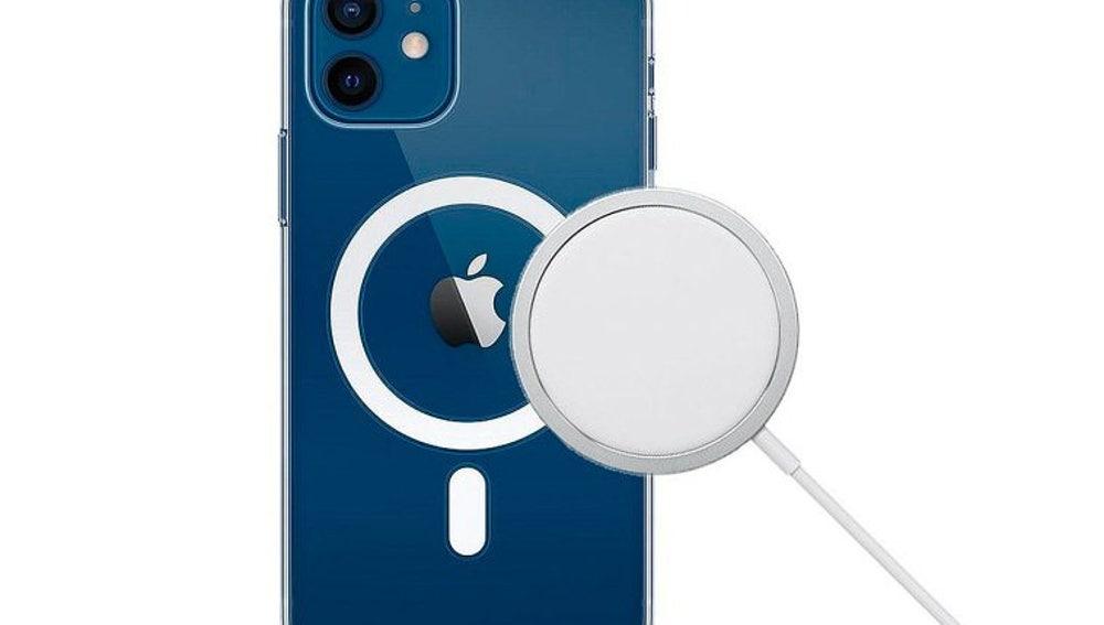 Accesorio de carga MagSafe para iPhone 12.