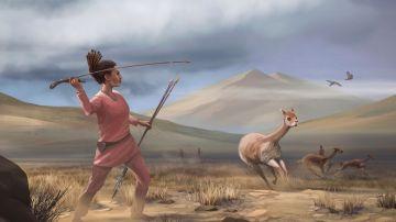 Ilustración de una mujer cazadora