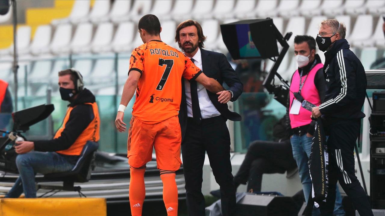 Andrea Pirlo y Cristiano Ronaldo