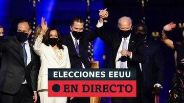 Biden y Harris tras ganar las elecciones en EEUU