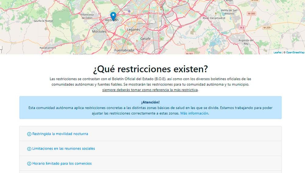 Resultados con el mapa y las restricciones
