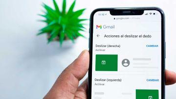 Personaliza los gestos en Gmail