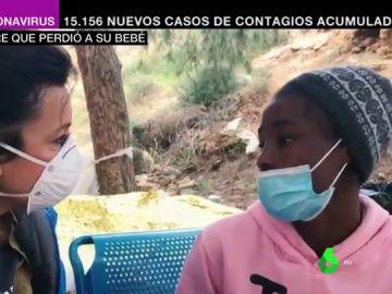Aya, la joven de 18 años que perdió a su bebé en un naufragio