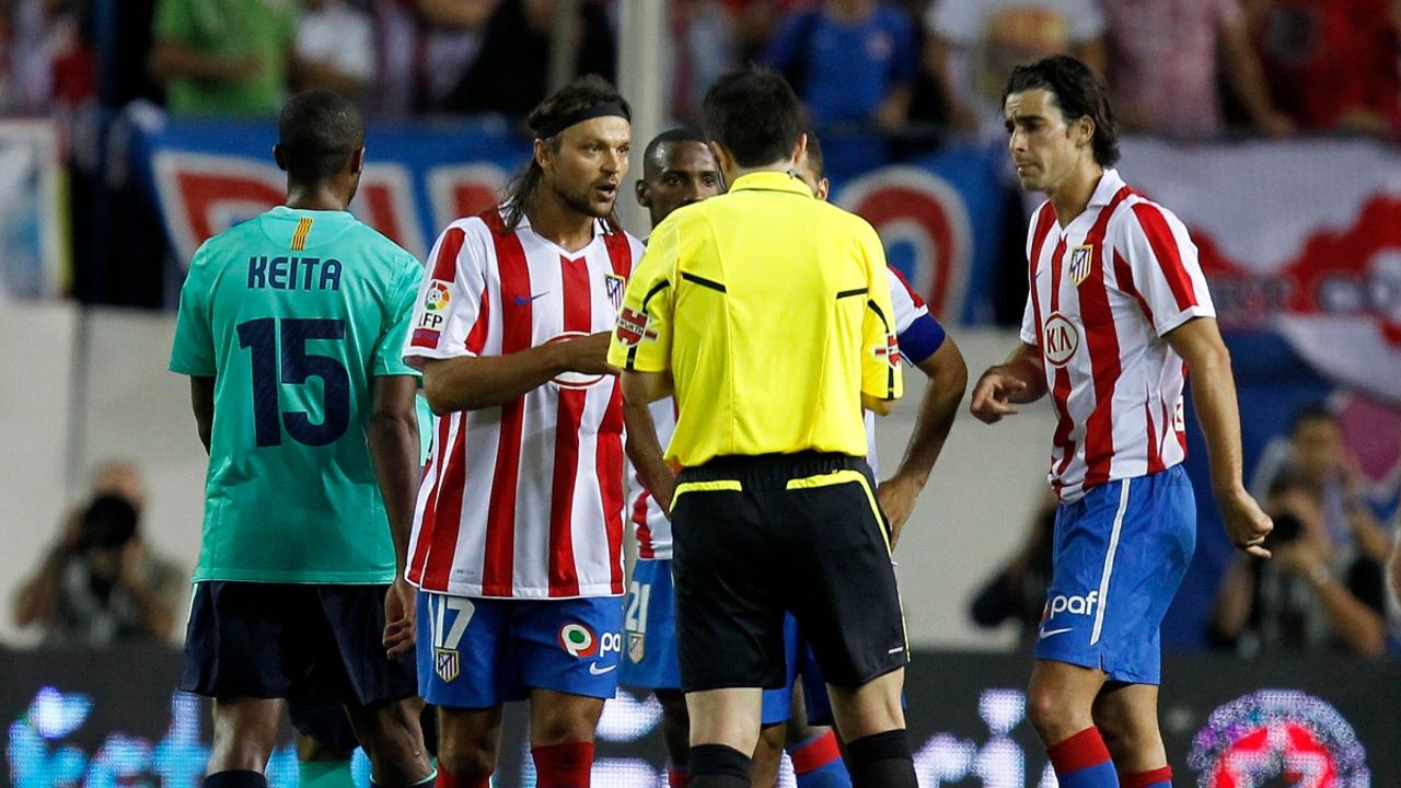 Ujfalusi, tras su entrada a Messi