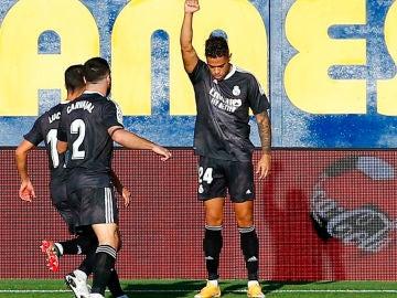Mariano Díaz celebra un gol