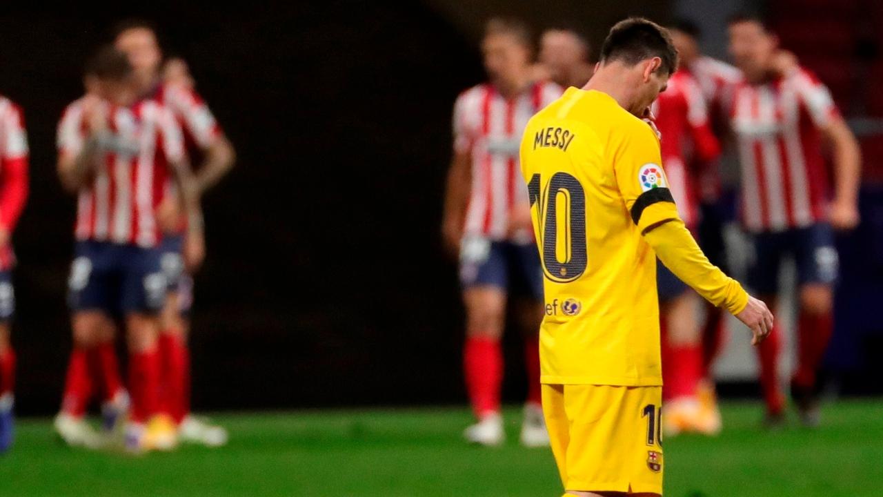Messi, cabizbajo ante el Atlético
